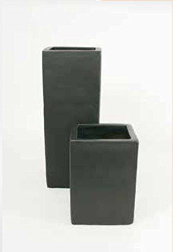 Blumenübertopf Square aus Keramik,nur für Innen geeignet, Farbe Anthrazit, 36x36x50cm