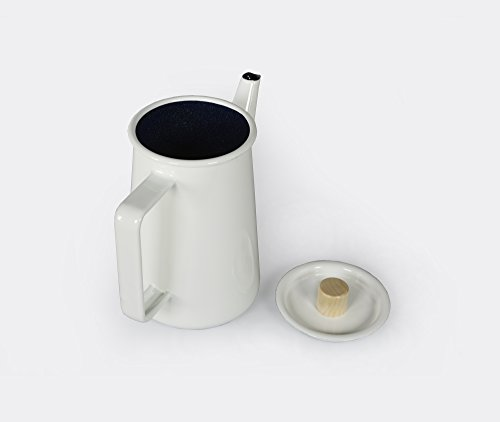 Kaico Japanese White Enamelware Coffee Pot from Koizumi Studio - Good Design Award Winner