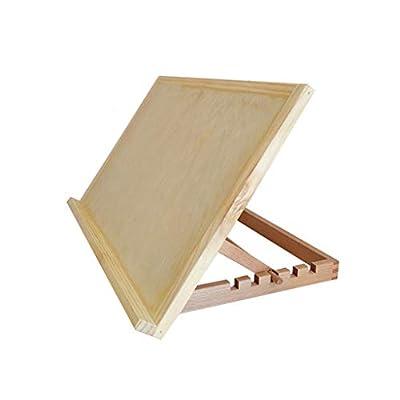 Yxsd Sketchpad Wooden Table Easel, Desktop Easel Sketch Oil Painting Wooden Hand-Painted Shelf Folding Sketch Board