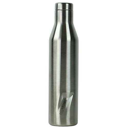 EcoVessel Aspen - TriMax Triple Vacuum Insulated Stainless Steel BPA Free Water & Wine Bottle - Cold for 100 -