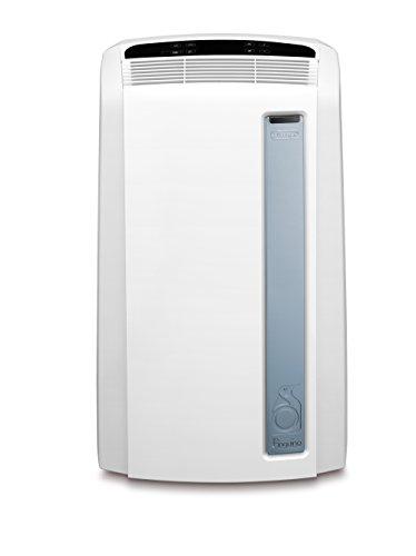 De'Longhi PAC AN 97 Real Feel Mobiles Klimagerät 0151801019, LCD-Fernbedienung, Digitaler 24-Stunden-Timer (EEK A), Weiß