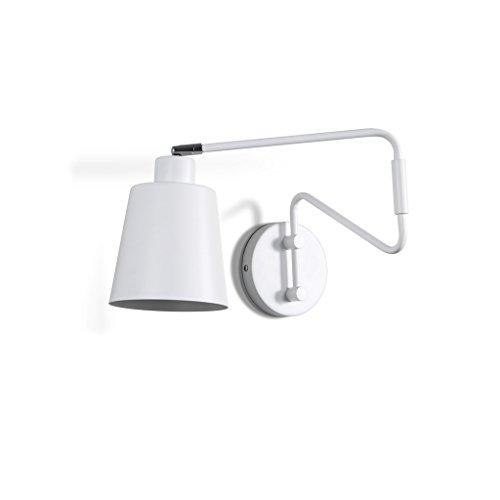 LCMJ Bedroom Wall Lamp Swing Arm Reading Light Iron Modern Rotatable 66CM Length E27 Socket