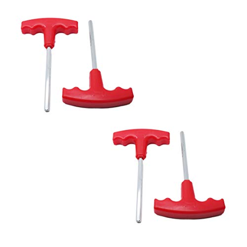 "LDEXIN 4pcs H6 6mm Hexagon Tip Shaft Hex Key T-Handle Metric T Shape Handle Allen Wrench Spanner Tool Red,15.5cm/6.1"" Long"
