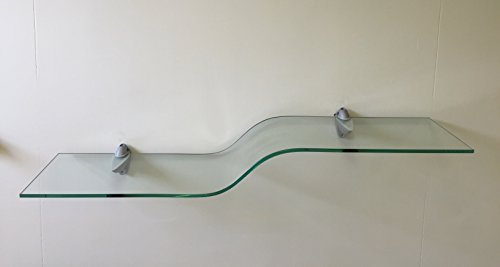 Elegant Shelf Clear with Silver Brackets - Elegant Bracket