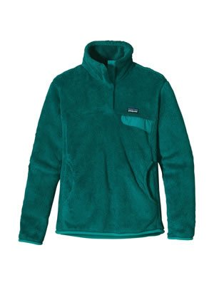 Dye Womens Jacket - Patagonia Re-Tool Snap-T Pullover - Women's Teal Green / Tidal Teal X-Dye Medium