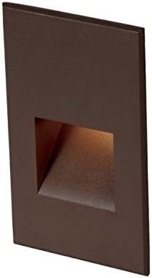 4011-30BZ WAC Lighting Landscape LEDme 12V Horiz Step//Wall 3000K Soft Bronze