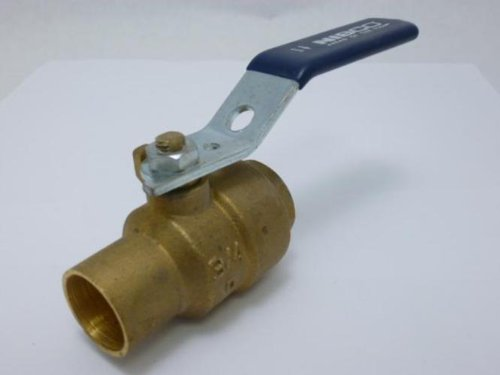 Nibco 41337 Brass Ball Valve 3//4 Pipe Size unthreaded
