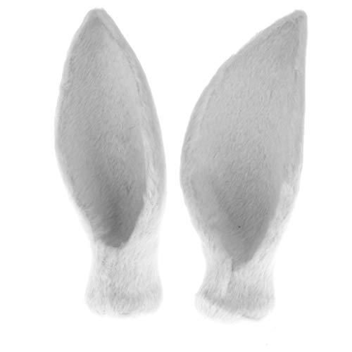 B Blesiya 1 Pair Simulation Faux Fur Deer Ear Animal Model Costume Headwear DIY Home Decoration Crafts – -