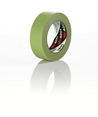 3M High Performance Masking Tape 401 Green Multiple Sizes