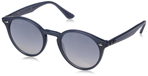 Ray-Ban INJECTED MAN SUNGLASS - OPAL DARK AZURE Frame CLEAR GRAD BLUE MIRROR SILVER Lenses 49mm - Ray Bans Dark