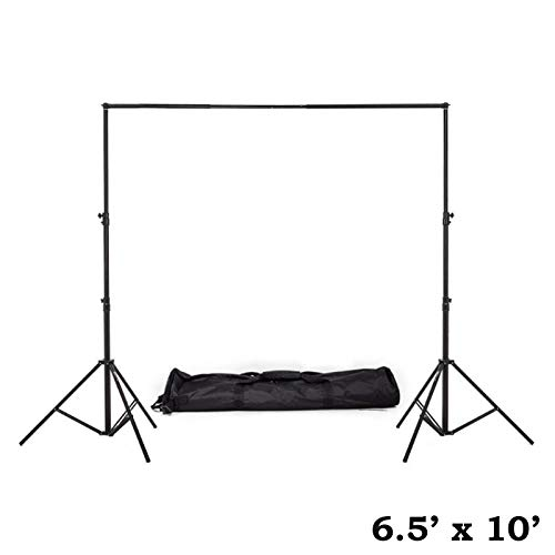 Efavormart Heavy Duty Pipe and Drape Kit Wedding Photography Backdrop Stand-6.5ft x10ft