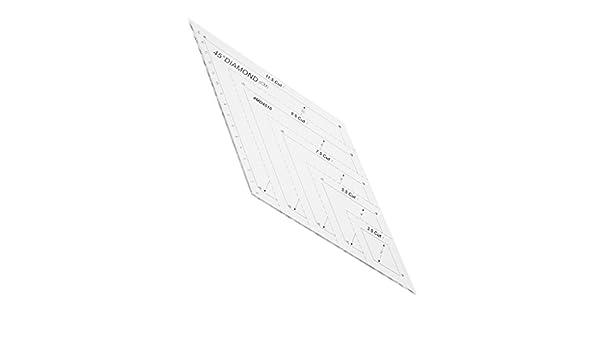 Sharplace Regla de Forma Rombo Artesan/ías Costura Marcaci/ón Durable DIY Arte Protecto Creativo