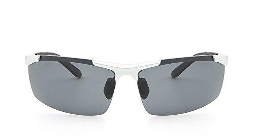 Red Gafas de los Shuo Gray Sol Silver de Masculina lan visión Gafas Nocturna Sol Noche New Gafas black Color polarizadas de Gafas de Profesionales Hombres qtn1wFt7