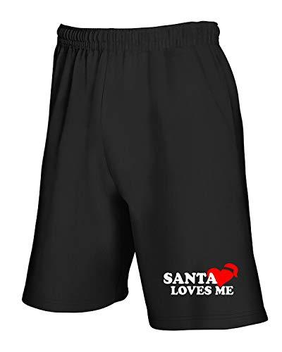 Santa Nero Me Dec0285 Pantaloncini Loves Tuta Cwq5WWtF7