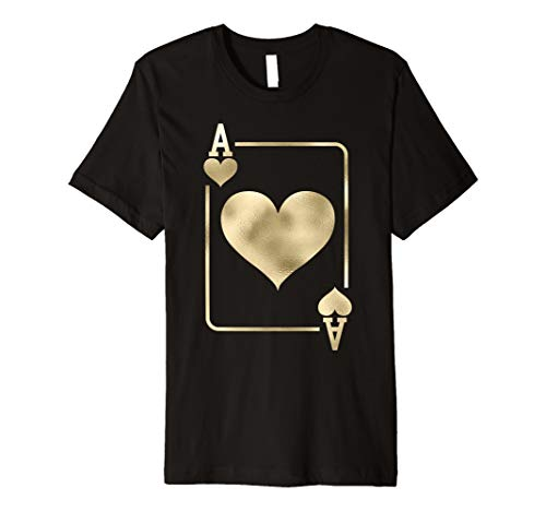 Ace of Hearts Shirt Playing Card Halloween Costume ()