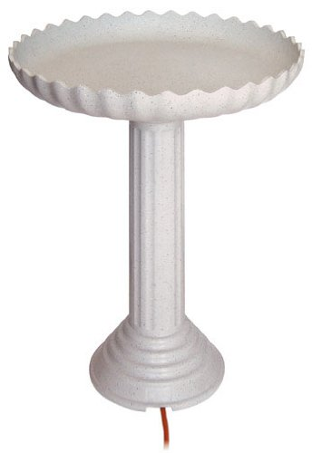 scalloped heated bird bath