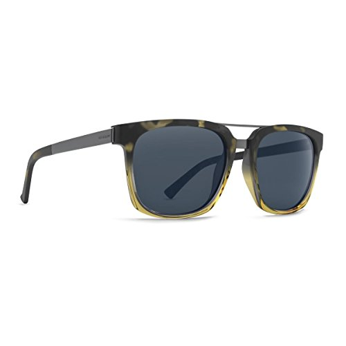 VonZipper Mens Plimpton Sunglasses, Black-Tortoise Buff Fade w/Gray Gradient - Lens Buff