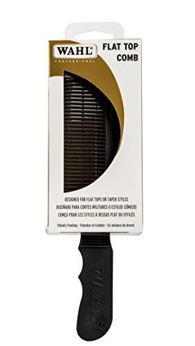 Top Comb - Wahl Professional New Flat Top Comb Black #3329 - Great for Professional Stylists and Barbers