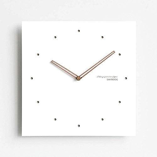 壁掛け 時計 壁掛け時計 15''12 ''サイレント非カチカチ壁時計バッテリー駆動のシンプルでモダンな白い正方形の壁時計リビングルームキッチンホームオフィス 掛け時計 (Color, E, Size, 12''),B,12''
