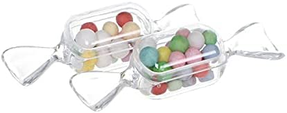 10Pcs Mini Transparent Plastic Sweets Shaped Candy Boxes Case Storage Container for Baby Shower