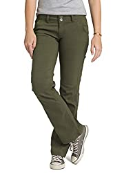 prAna - Women's Halle Roll-up, Water-Repellent Stretch Pants for Hiking and Everyday Wear, Tall Inseam, Cargo Green, 4
