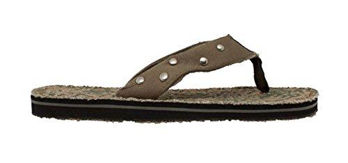 Shaboom Menns Tanga Sandal Oliven