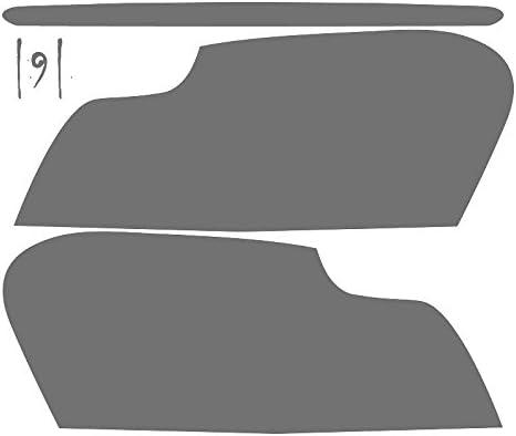 Subject 9 Pre-Cut Vinyl Overlay Complete Headlight and Taillight Plus Tint Fits: Accord Light Sedan 2008 2009 2010 2011 2012