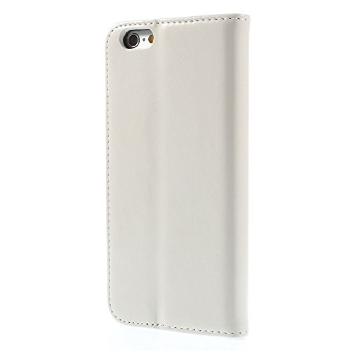 Apple iPhone 6/6S Sac Case Stand étui type Étui porte-cartes Blanc decui Blanc Étui de protection en cuir PU