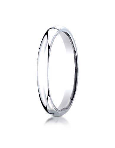 Mens Platinum, 3mm Slim Profile Comfort-Fit Ring (sz 8) -