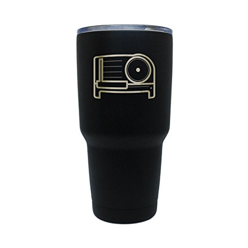 Meat Slicer Black Stainless Steel Tumbler, 30 Oz Insulated Tumbler, Laser Etched In Usa