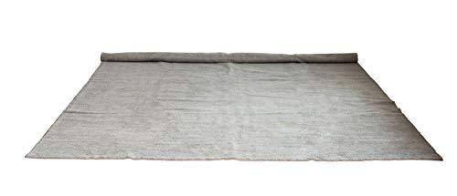 Creative Co-op Light Grey 8' x 10' Hand-Woven Cotton Chenille/Jute Rug, 8