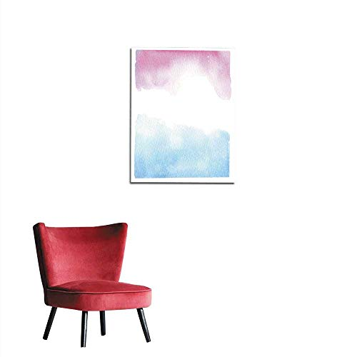corridor/indoor/living room Hand drawn watercolor illustration Blue and pink background with abstract watercolor splash Perfect for invitations greeting cards blogs posters and more mural 24