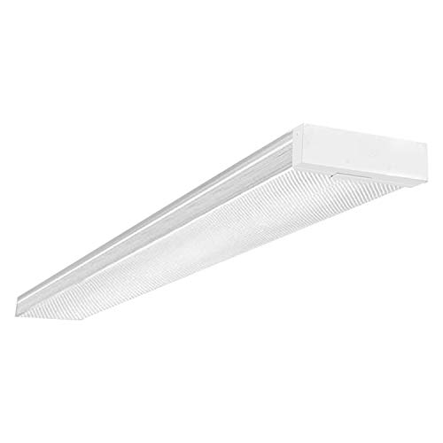 4ft Low Profile Flush Mount Ceiling Light Fixture, 4400Lm, DLC & UL-Listed, Surface Mount, 5000K Daylight ()