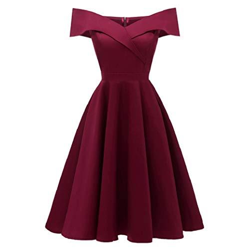 , Women Sleeveless A-Line Women's 1950s Vintage Dress Cocktail Dress ()