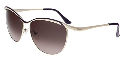 Salvatore Ferragamo Women's SF147S Shiny Gold/Purple Sunglasses