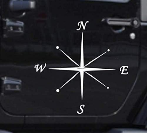 Generic Kompass Polarstern Aufkleber 20x20cm Oder 30x30cm Windrose Aufkleber Für Caravan Wohnmobil Wohnwagen Auto Oder Als Wand Tattoo 138 1 30x30cm Mehrfarbig Garten