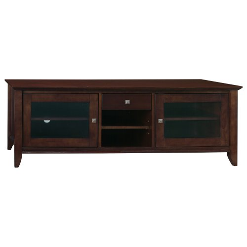 Bush Furniture Tv Stand - Bush Furniture Sonoma Large TV Stand, Mocha Cherry Veneer