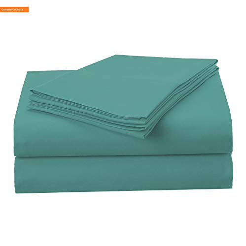 Mikash New Soft 1500 Series Premium Quality 100% Brushed Soft Microfiber 4-Piece Luxury Deep Pocket Cooling Bed Sheet Set, Hypoallergenic, Wrinkle and Stain Resistant - Queen, Teal | Style 84600546