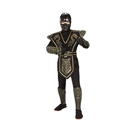 Big Boys' Gold Dragon Warrior Ninja Costume - L