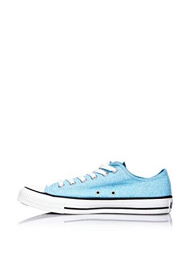 Converse Chuck Taylor All Star Wash Neon Ox, Baskets mode femme Bleu (Neon Bleu)