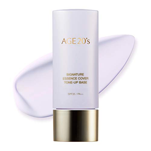AEKYUNG AGE 20's Brightening Purple Tone Up Base, 71% Hydrating Essence SPF35 PA++ Korean Makeup Primer (1.35 fl. oz)