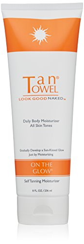 Tan Towel On The Glow Body Self Tanning Moisturizer, 8 Fl Oz (Tan Body Towels)