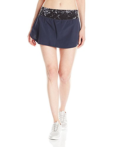 New Balance Women's Woven Skort, Black/Grey, X-Small