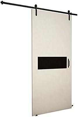 Mirjan24 Puerta Corredera Sistema Antic IV, Negro Cristal, Set ...