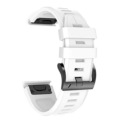 ANCOOL Compatible with Fenix 6 Pro Bands Soft Silicone Easy Fit 22mm Watch Bands Replacement for Fenix 6/ Fenix 6 Pro/Fenix 5 Plus/Fenix 5 / Forerunner 935/ Forerunner 945 Smartwatches, White