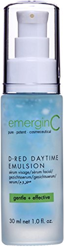 emerginC D-Red Daytime Emulsion - Gentle + Effective Redness Reducing Formula with Aloe Vera, Chamomile + Sweet Almonds (1 Ounce, 30 Milliliters)