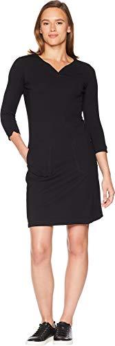 Royal Robbins Women's Geneva Ponte Dress, Jet Black, Small