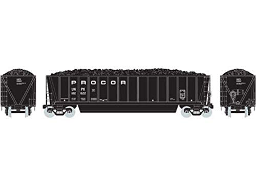 Athearn HO RTR Bathtub Gondola w Coal Load Procor #102622