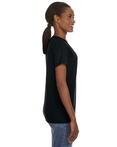Anvil–Camiseta de hilado y cuello de pico para mujer Negro - negro