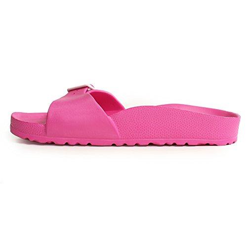 H2k Lily Mujeres [súper Liviana] Sandalia Comfy Slide Sandalia Con Plantilla De Pie Y Correa Ajustable Pink